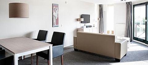 Impressie van dit 4-persoons appartement op Landal Beach Resort Ooghduyne