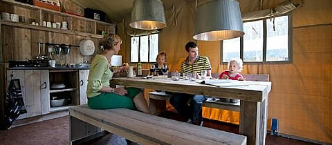 Impressie van deze 6-persoons bungalowtent op Landal Coldenhove