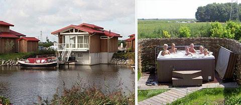 Impressie van deze 8-persoons bungalow op Waterpark Zwartkruis