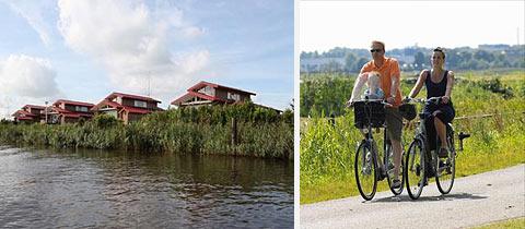 Impressie van Waterpark Zwartkruis in Noordbergum, Friesland