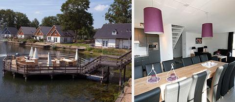 Impressie van deze 12-persoons bungalow op Landgoed Hommelheide