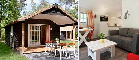Impressie van deze 2-persoons bungalow op Park De Leemkule