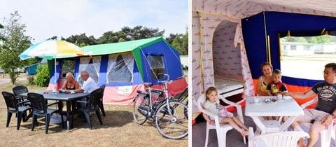 Impressie van deze 6-persoons bungalowtent op Vakantiepark Rivièra Beach