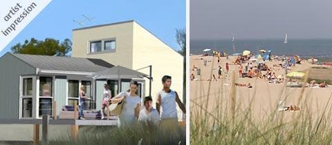Impressie van dit 6-persoons strandhuisje op Roompot Beach Resort