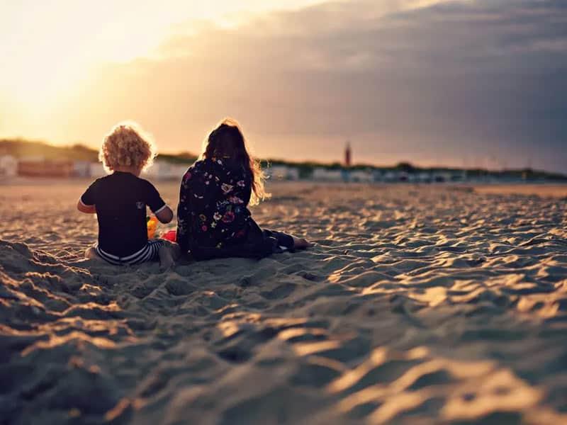 Sfeerfoto van het strand bij Villapark De Koog